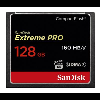 Sandisk cf extreme pro 128 GB memóriakártya 160mb/s SDCFXPS-128G-X46 (123845)