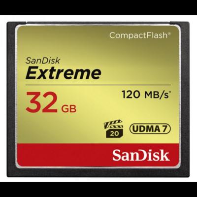 Sandisk cf extreme 32 GB memóriakártya 120mb/s  85mb/s SDCFXSB-032G-G46 (124093)