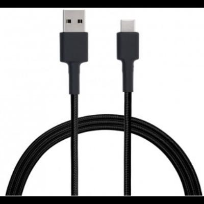 Xiaomi Mi Braided USB Type-C kábel 100cm - FEKETE (XMMBDUSBTC100B)