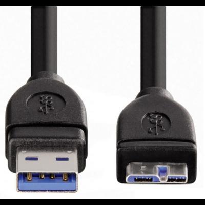 Hama ST usb 3.0 a - usb micro b adapter adat kábel 0,75m (53749)