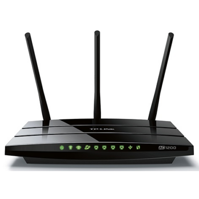 TP-LINK Wireless Router Dual Band AC1200 1xWAN(1000Mbps) + 4xLAN(1000Mbps) + 1xUSB, Archer C1200 (222920)