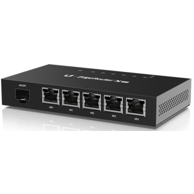 UBiQUiTi Router - ER-X-SFP - EdgeRouter 5 GbitLAN, 1 SFP Port (259543)