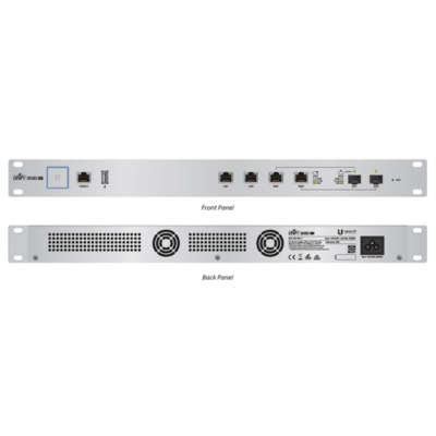 UBIQUITI Router - USG-PRO-4 - 2 GbitLAN, 2 RJ45/SFP, 1 RJ45 Consol Port,  PortSecurity Gateway Pro (239214)