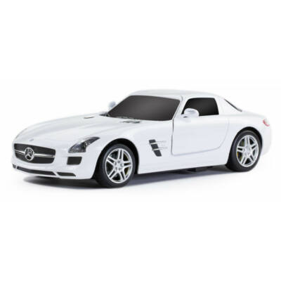 Mercedes-Benz SLS 1:14 32cm távirányítós modell autó Rastar 47600 RTR modellautó - fehér