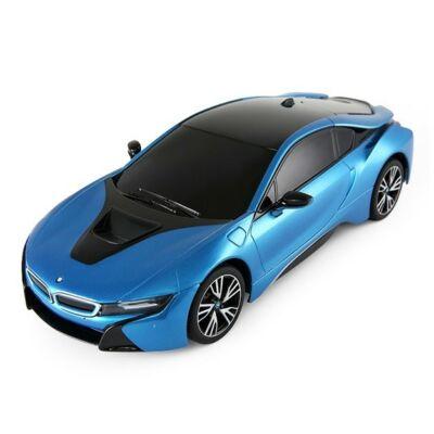 BMW i8 1:18 26cm távirányítós modell autó Rastar 59200 RTR modellautó - kék