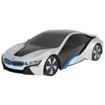 BMW i8 1:24 19,3cm távirányítós modell autó Rastar 48400 RTR modellautó - ezüst