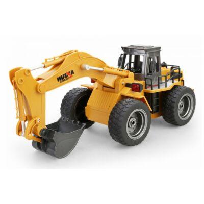 Távirányítós kotrógép 36 cm 1:18 RC játék markoló munkagép Huina Toys 1530 RTR