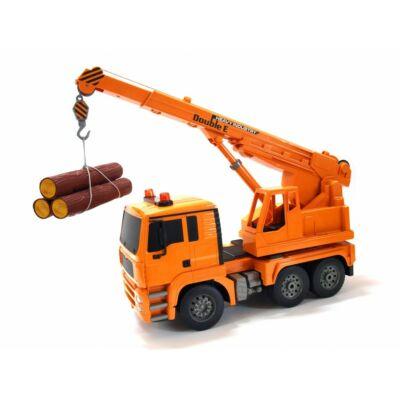 Crane Truck távirányítós emelőkaros teherautó 40cm 1:20 RC darus rakodó játék munkagép Double Eagle E516-003 RTR EE Double E 2.4GHz
