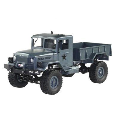 WPL M35 4x4 Military Truck távirányítós amerikai katonai szállító jármű 34cm 2.4GHz 4WD 1:16 U.S. Army harci RC teherautó munkagép - kék