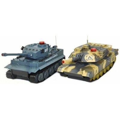 UF 508C 1:24 (30cm) RC tank csata szett életerővel infra lövéssel German Tiger vs Abrams (UniFun távirányítós játék német tigris és abrams) RTR