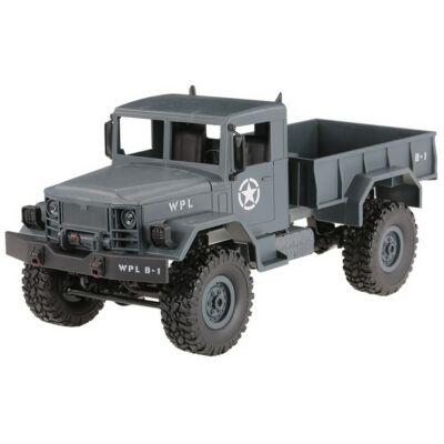 WPL B14 4x4 Military Truck távirányítós amerikai katonai szállító jármű 34cm 2.4GHz 4WD 1:16 U.S. Army harci RC teherautó munkagép - kék