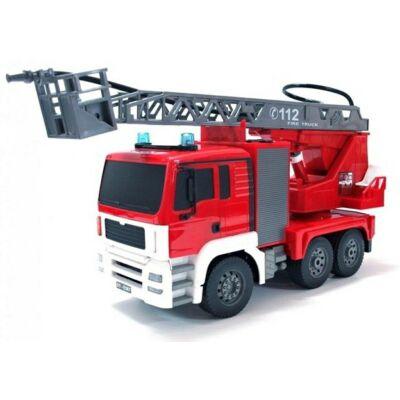 Távirányítós tűzoltóautó létrával víz lövéssel 46cm 1:20 RC játék tűzoltó autó munkagép Double Eagle E567-003 RTR EE Double E 2.4GHz