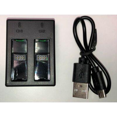 Akció kamera dupla akkumulátor töltő keret USB kábellel GoPro Hero 5 6 7 és Hero 2018 kamerákhoz