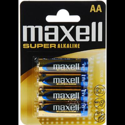 Maxell Super AA alkáli tartós elem (Super, LR-6, 1,5V) -  4db / csomag