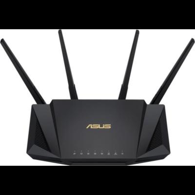 ASUS Wireless Router Dual Band AX3000 1xWAN(1000Mbps) + 4xLAN(1000Mbps) + 1xUSB, RT-AX58U