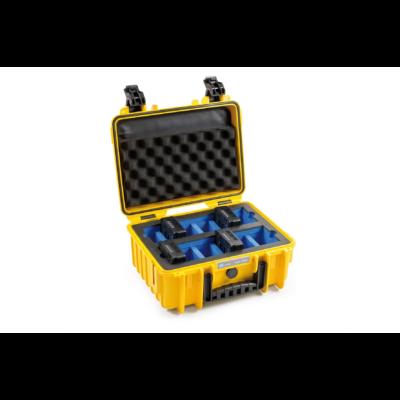 B&W koffer 3000 sárga DJI TB50 6S akkumulátorokhoz (31925)