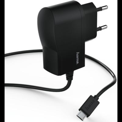 Hama hálózati töltő micro USB, 1A,  fekete (173670)