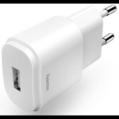Hama hálózati töltő USB 1,2A ,fehér (183262)