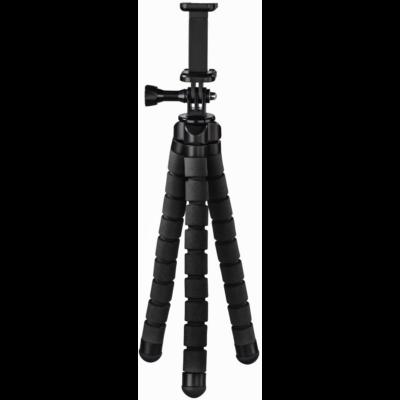 """Hama Gopro/smartphone """"FLEX"""" 26cm midi állvány, fekete (4613)"""
