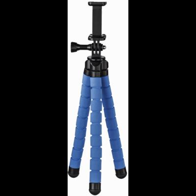 """Hama Gopro/smartphone """"FLEX"""" 26cm midi állvány, kék (4615)"""
