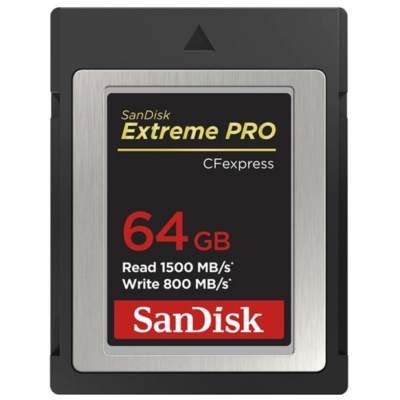 Sandisk Cfexpress extreme pro® kártya 64GB, Type B, 1500MB/s, 800MB/s (186484)