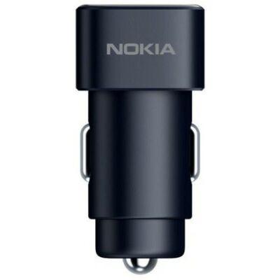 DC-301 Nokia autós töltőfej, 2 USB, 2.4A, Fekete