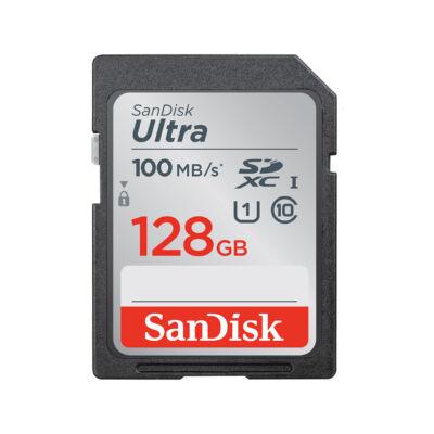 Sandisk SDXC ultra kártya 128GB, 100MB/s CL10 UHS-I (186470)