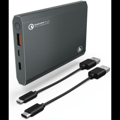 "Hama univerzális USB külső akku (QC 3.0) ""Powerbank Pa-12 "", 12000mAh, Antracit (183352)"