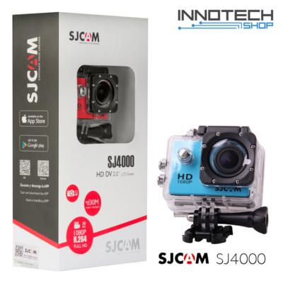 SJCAM SJ4000 sportkamera akció kamera 2 colos kijelzővel gyári kiegészítőkkel (kék) (SJ4000BL)