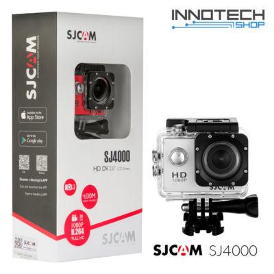 SJCAM SJ4000 akció kamera sportkamera 2 colos kijelzővel gyári kiegészítőkkel (ezüst) (SJ4000S)