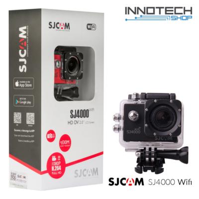 SJCAM SJ4000 WIFI akció kamera sportkamera 2 colos kijelzővel gyári kiegészítőkkel (fekete)  (SJ4000WBK)