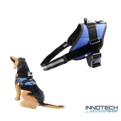 GoPro SJCAM kutyahám egy kameraállással (kutyás akció kamera rögzítő tartó kutya hám) - kék