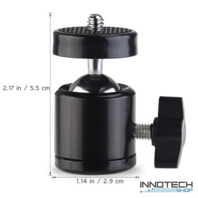 SJCAM / SONY / GoPro akció kamera masszív fémvázas gömbcsuklós rögzítő tartó adapter 1/4 col szabvány SJ/GP-210 SJ GP-210