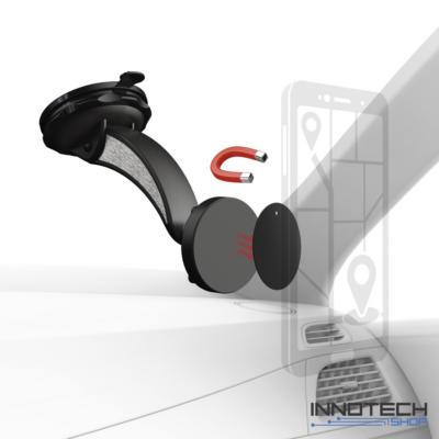 Hama Magnet Alu univerzális autós mobiltartó szélvédőre (mobiltelefon tartó konzol) (178245)