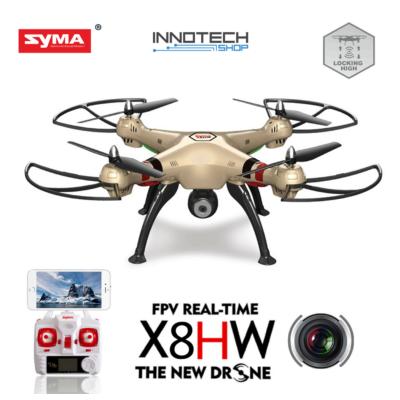 SYMA X8HW nagy méretű drón quadcopter élőképes FPV wifi HD kamerával + légnyomás érzékelő automata magasságtartás (magyar nyelvű útmutatóval)