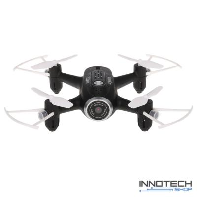 Syma X22W Wifi FPV élőképes kamerás drón quadcopter 14.4cm 720p HD kamerás drón automata magasságtartással (magyar nyelvű útmutatóval) - fekete