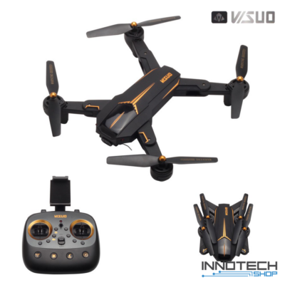 VISUO XS812 Összecsukható GPS 5G Wifi FPV 1080p full HD (magyar útmutatóval) élőképes kamerás drón quadcopter (XS 812 kamerás fullHD drón) - fekete