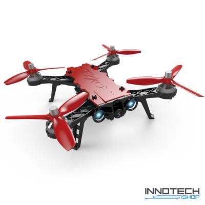 MJX Bugs 8 PRO verseny drón quadcopter (magyar útmutatóval MJX B8 PRO Bugs8 professional racing drone versenydrón RTF FPV 500 m) - piros fekete