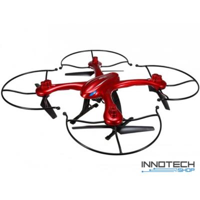 MJX X102H nagy méretű (50 cm) élőképes drón quadcopter légnyomás érzékelő automata magasságtartás - piros