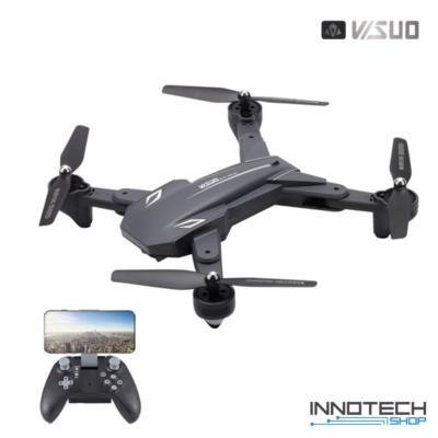VISUO XS816 Összecsukható két kamerás Wifi FPV 4K élőképes drón quadcopter (XS 816, 20 perc repülési idő, gesztusvezérlés, követés, optikai pozíciótartás, magyar nyelvű útmutatóval)