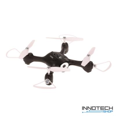 Syma X23W Wifi FPV élőképes kamerás drón quadcopter 21cm 720p HD kamerás drón automata magasságtartással - fekete