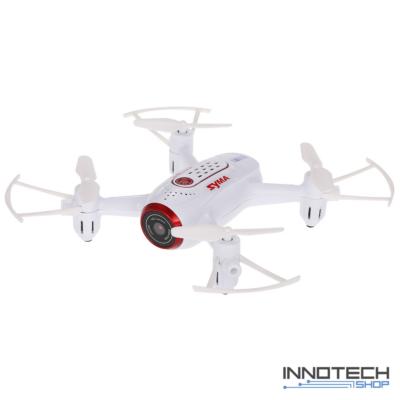 Syma X22W Wifi FPV élőképes kamerás drón quadcopter 14.4cm 720p HD kamerás drón automata magasságtartással - fehér