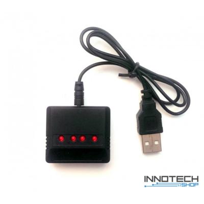 Syma X5SC X5SW USB akkumulátot töltő 4x LiPo 3.7V (4 db akkumulátor töltése egyszerre)