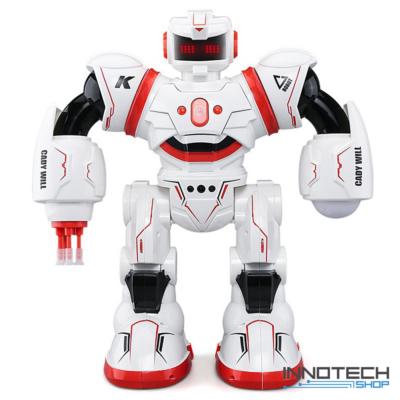 JJRC R3 CADY WILL RC óriás harci Robot 36cm interaktív programozható intelligens vezérléssel (magyar útmutatóval érintésvezérlés gesztusvezérlés távirányítós játék) - piros