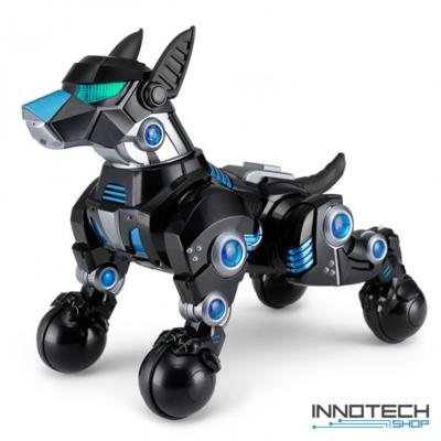Rastar 77960 távirányítós RC interaktív robot játék kutya 30cm (ugatás, ül, fekszik, pipi, tánc, szaladás - görgős lábakon mozog) - fekete