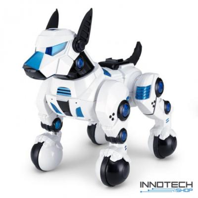 Rastar 77960 távirányítós RC interaktív robot játék kutya 30cm (ugatás, ül, fekszik, pipi, tánc, szaladás - görgős lábakon mozog) - fehér