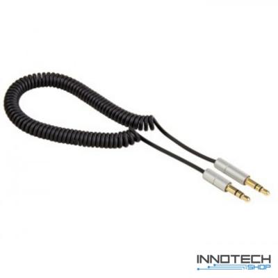 Hama Aluline 3,5mm jack audio összekötő kábel spirál 0,26-1,0m (80854)