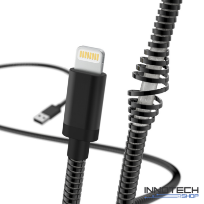 Hama Metal Lightning Apple adat kábel 1,5m - fekete (183339)