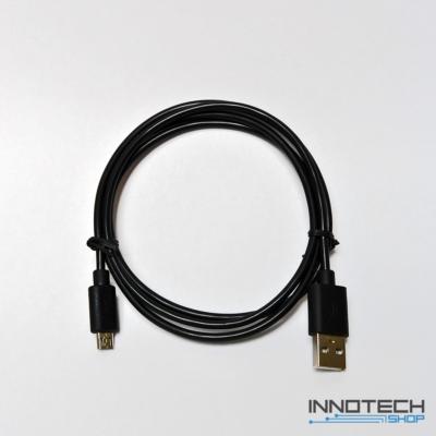Hama micro usb adat kábel szövet bevonattal 1m - fekete (20074)