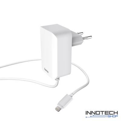 Hama hálózati töltő ipad iphone ipod lightning (mfi) 2,4A - fehér (178304)